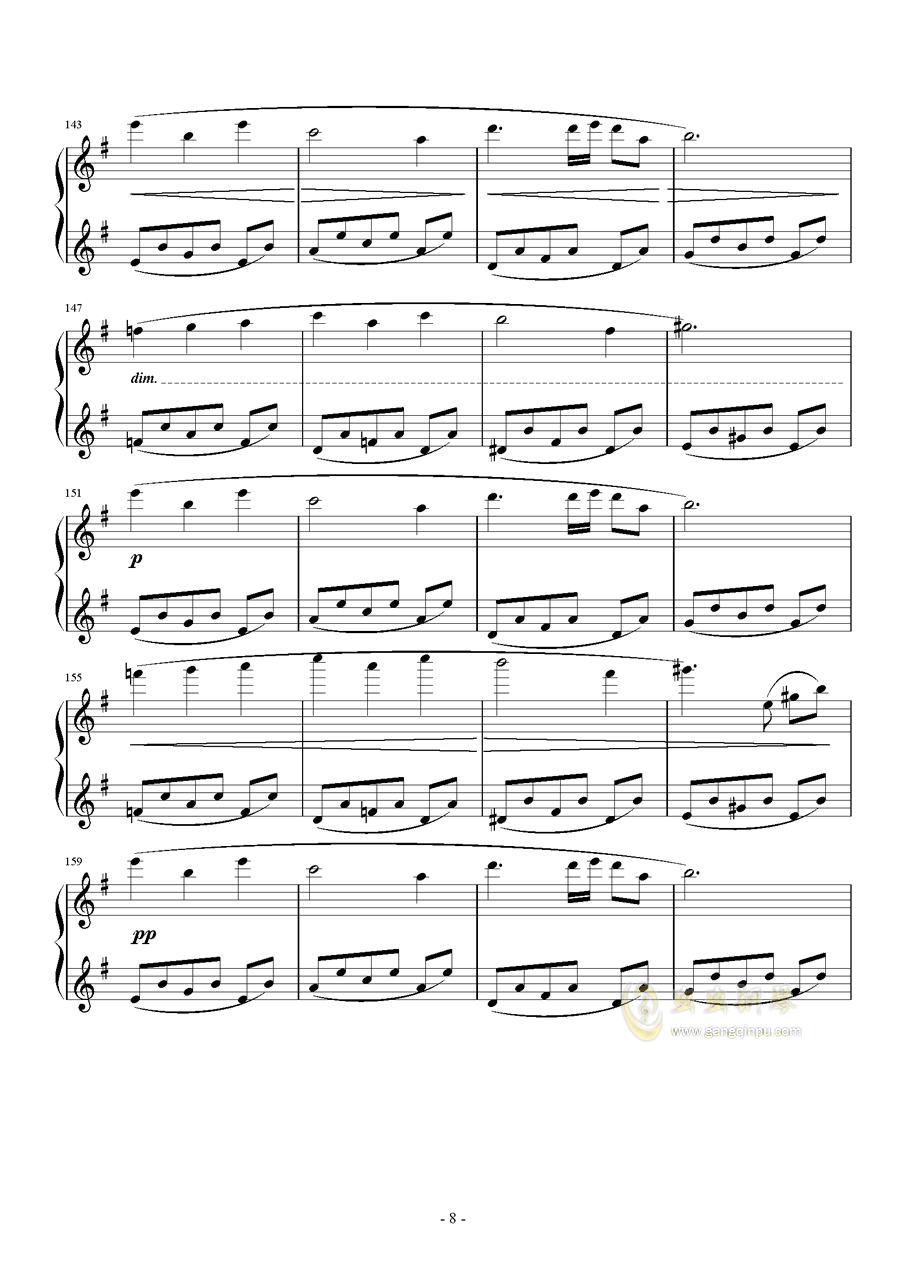 PROMENADE DANS LES BOIS钢琴谱 第8页