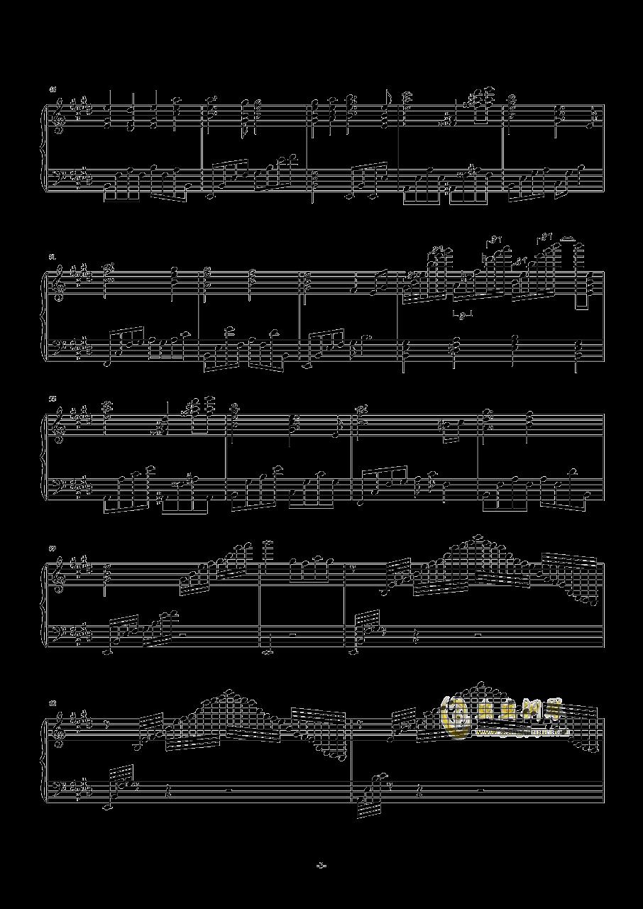 爱的礼赞钢琴谱 第3页