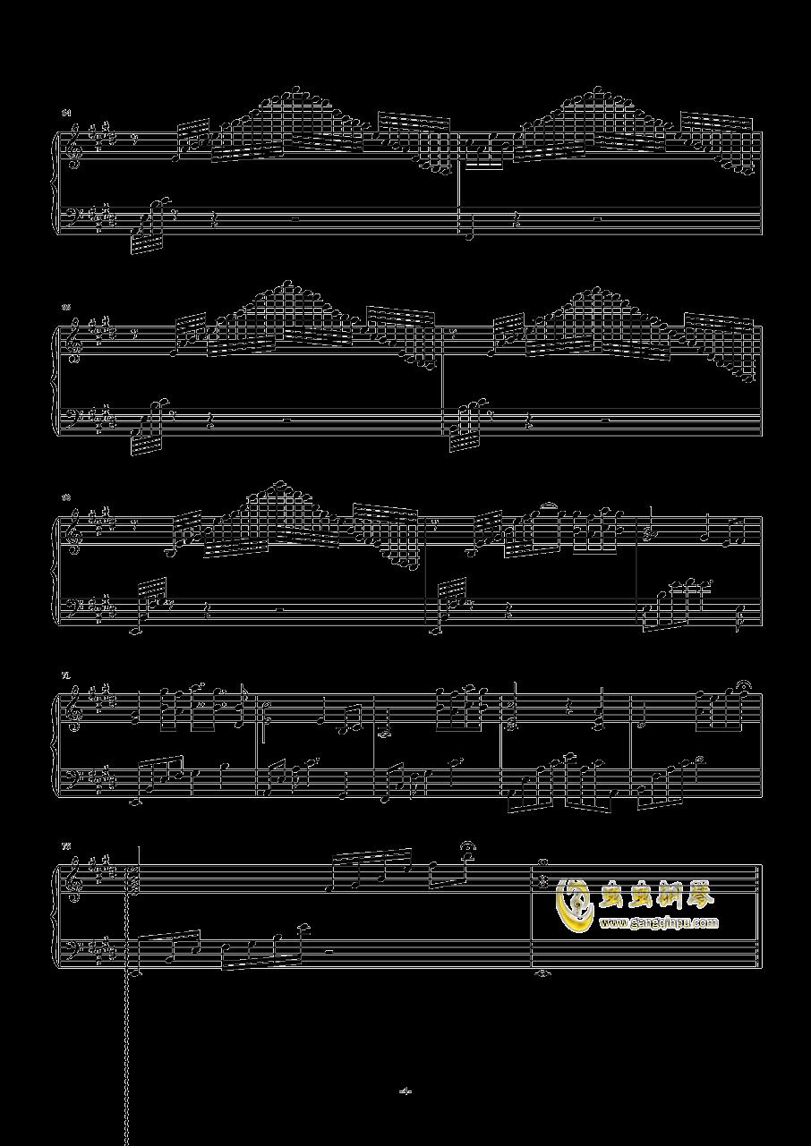 爱的礼赞钢琴谱 第4页