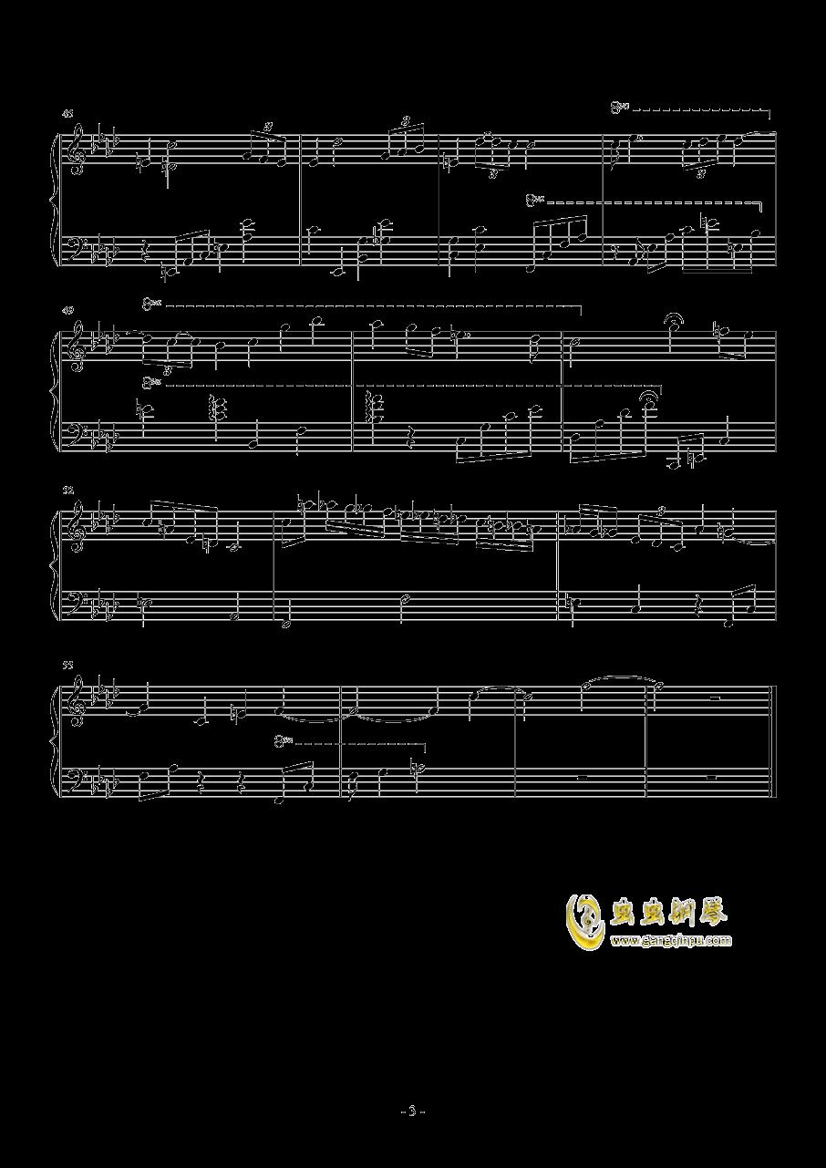雨中暮色钢琴谱 第3页