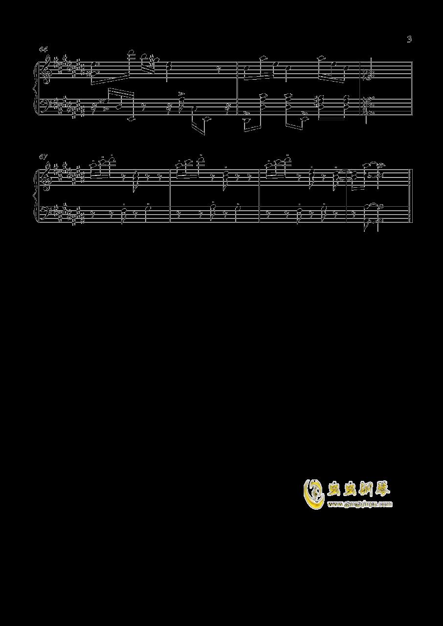 雪花钢琴谱 第3页