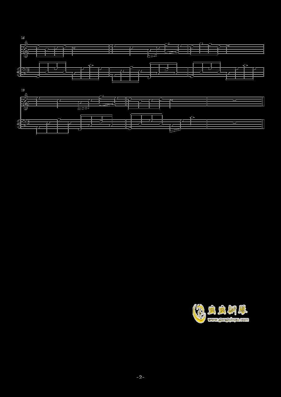 非常好听的C调简易练习曲钢琴谱 第2页
