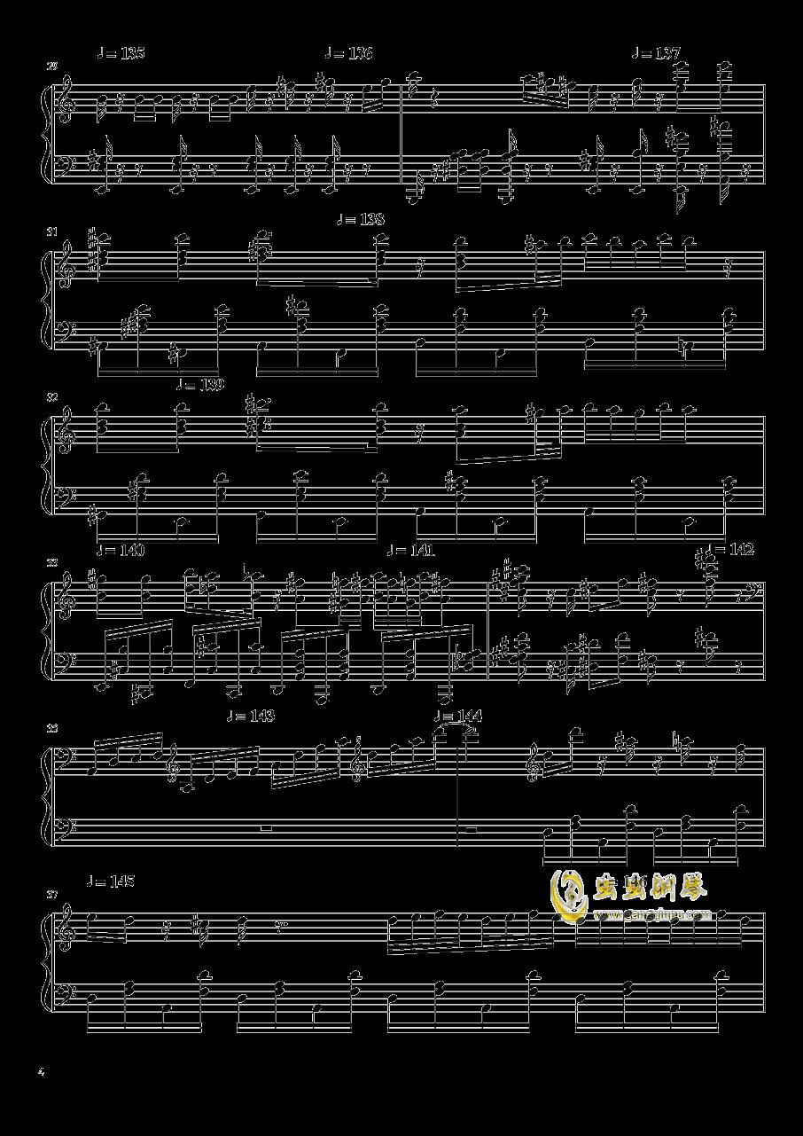 大师赛钢琴谱 第4页