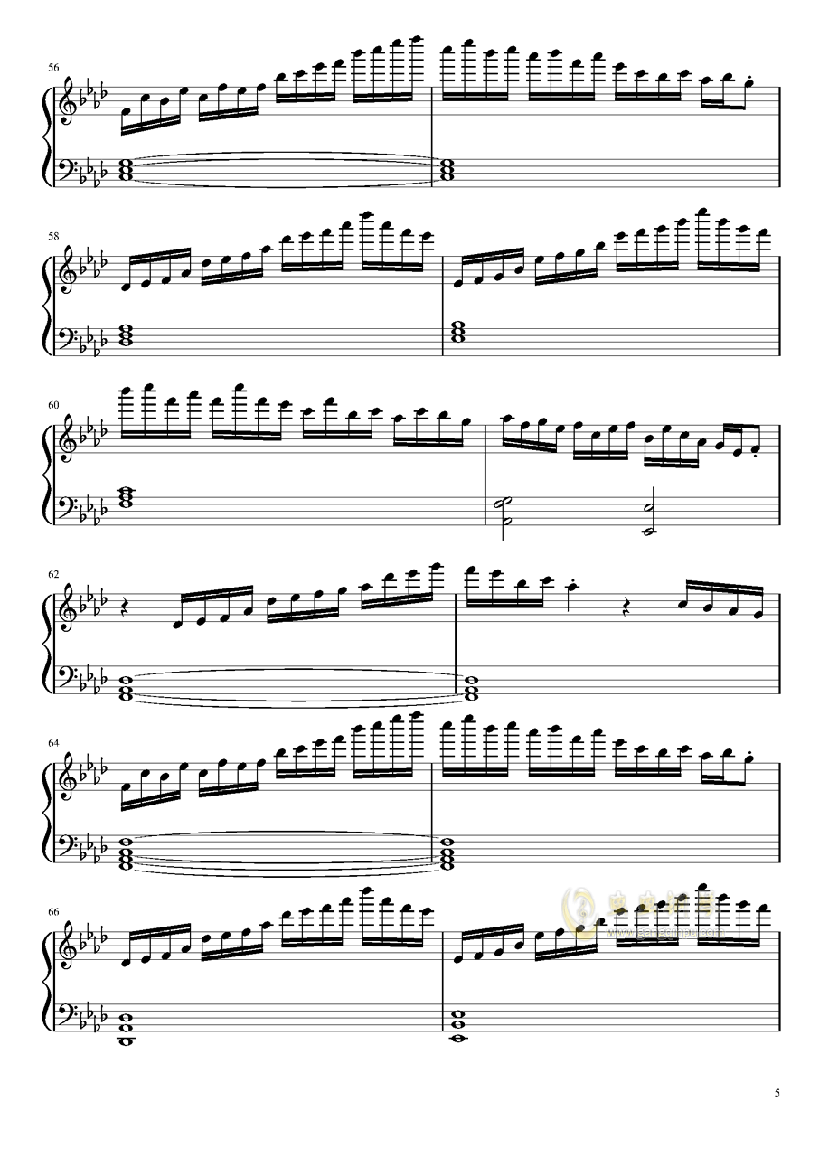 ヴォヤ�`ジュ 1969钢琴谱 第5页