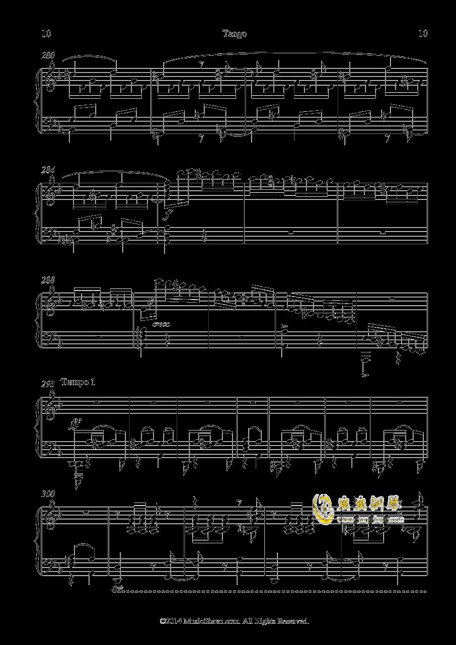 肖恩的探戈钢琴谱 第10页