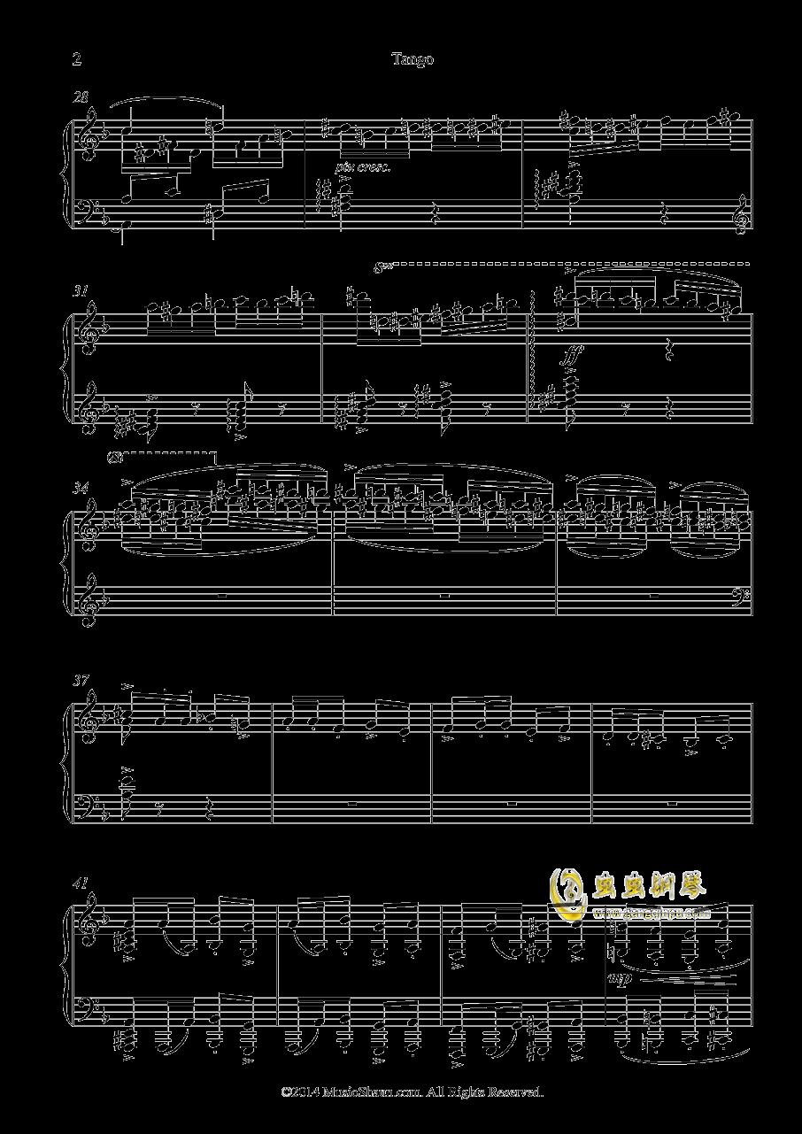 肖恩的探戈钢琴谱 第2页