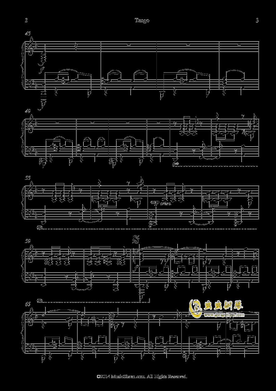 肖恩的探戈钢琴谱 第3页
