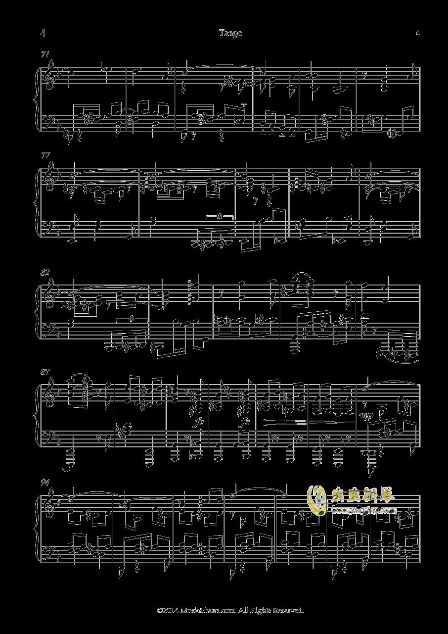 肖恩的探戈钢琴谱 第4页