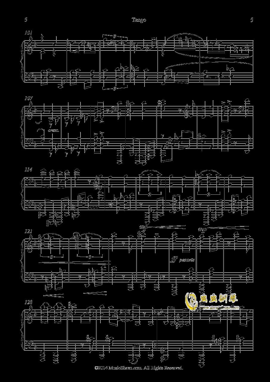 肖恩的探戈钢琴谱 第5页