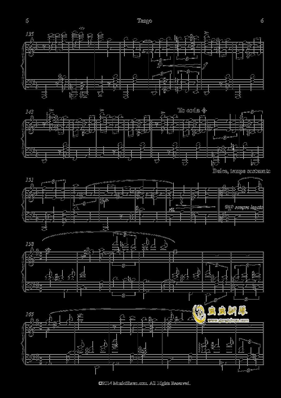 肖恩的探戈钢琴谱 第6页