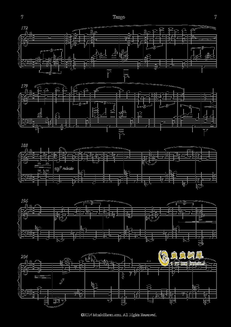 肖恩的探戈钢琴谱 第7页