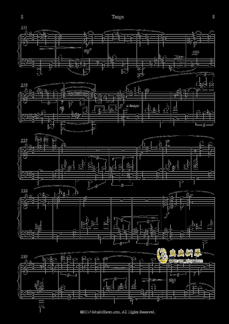 肖恩的探戈钢琴谱 第8页