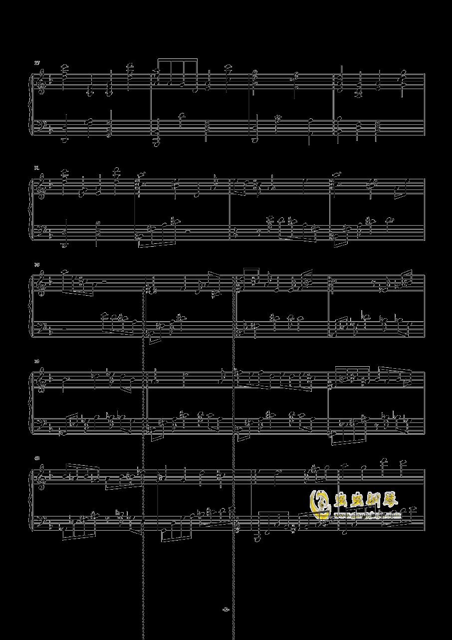 �O北の民钢琴谱 第2页
