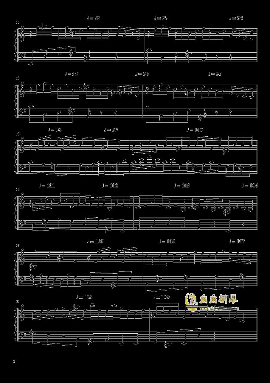 高手赛钢琴谱 第2页