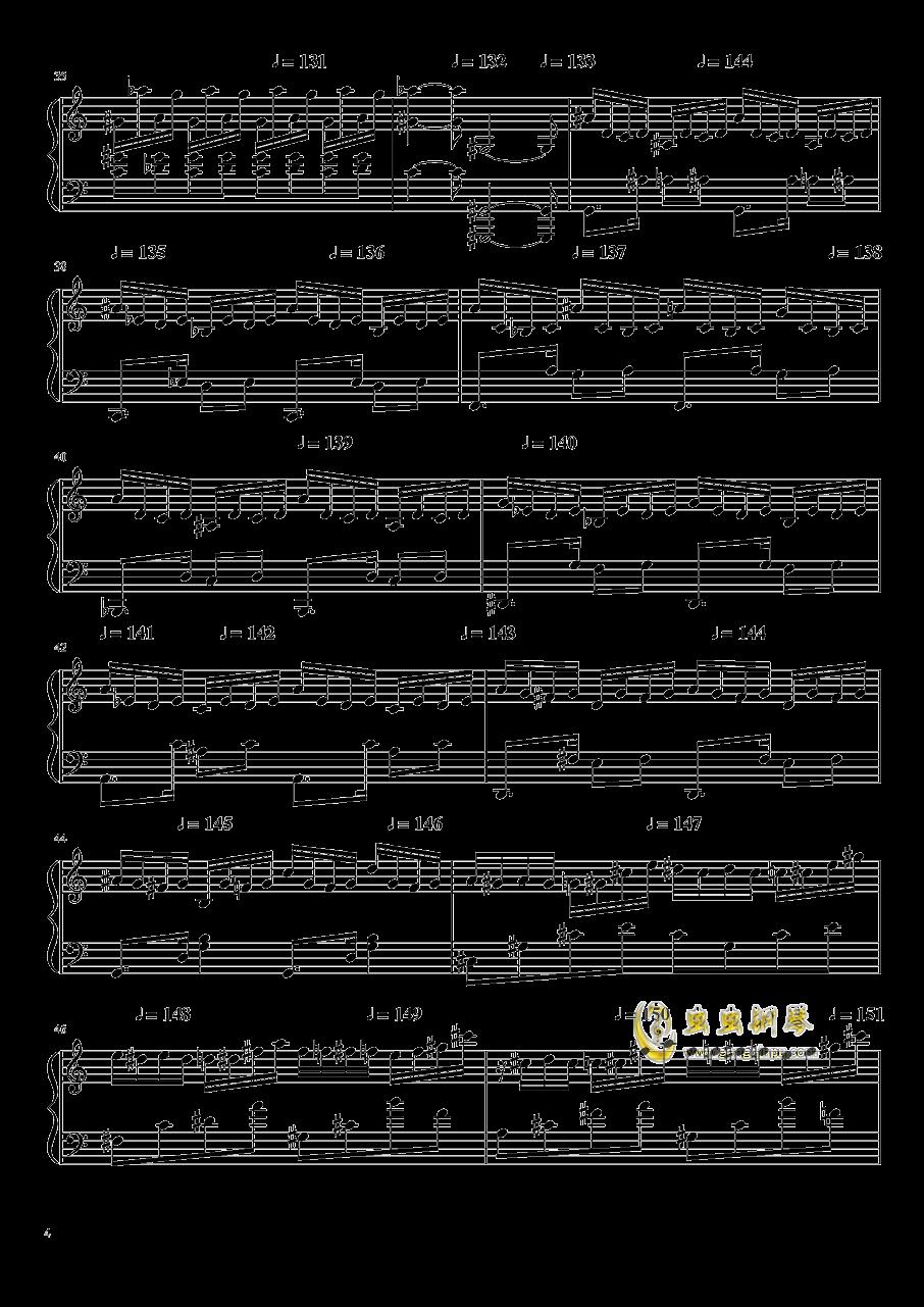 高手赛钢琴谱 第4页