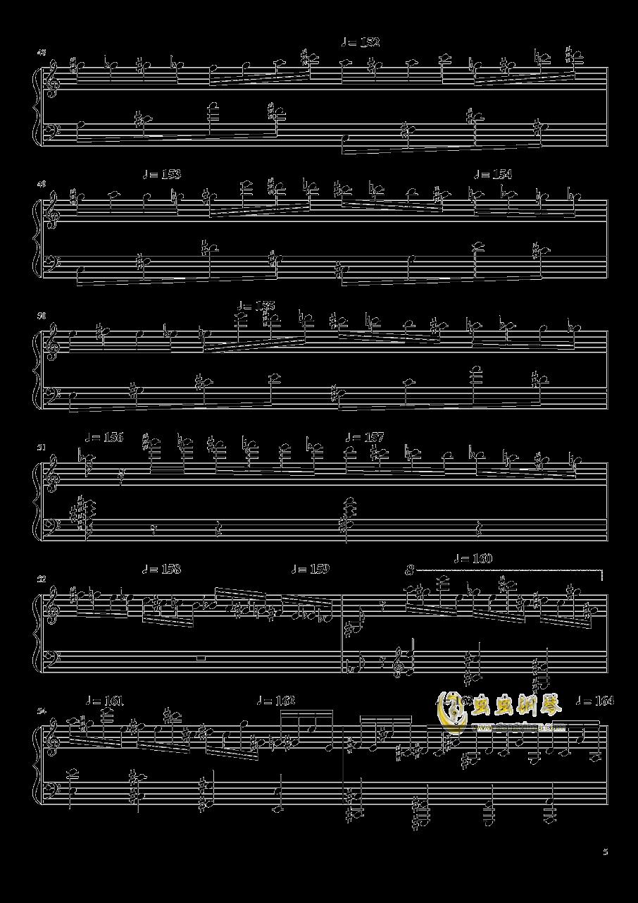 高手赛钢琴谱 第5页
