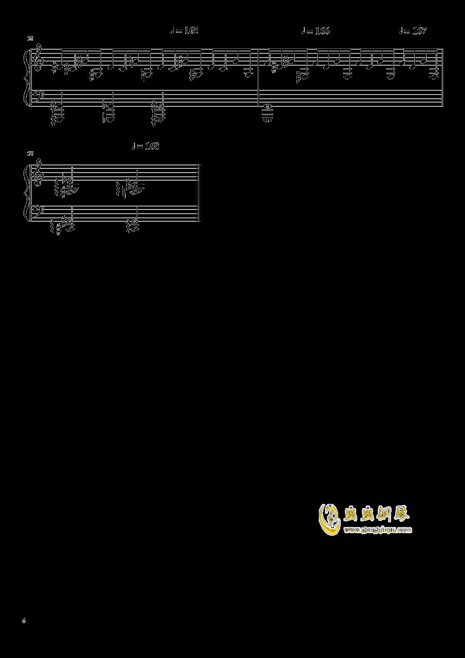 高手赛钢琴谱 第6页