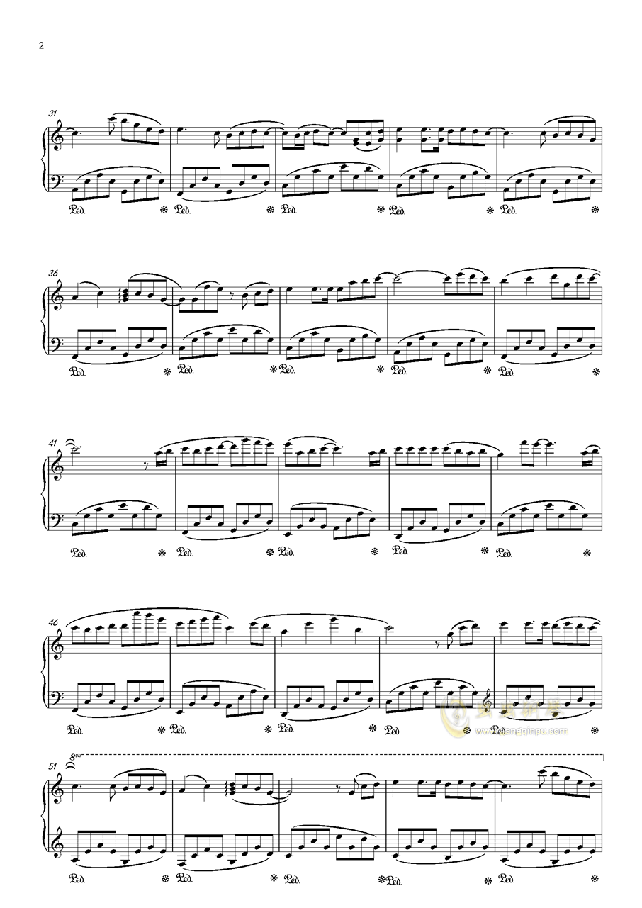 甜の钢琴谱 第2页