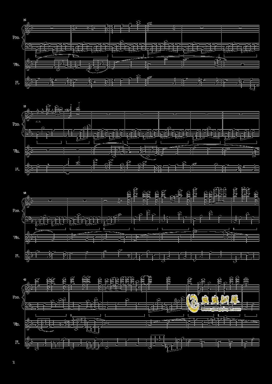 勾小指的�s定钢琴谱 第2页