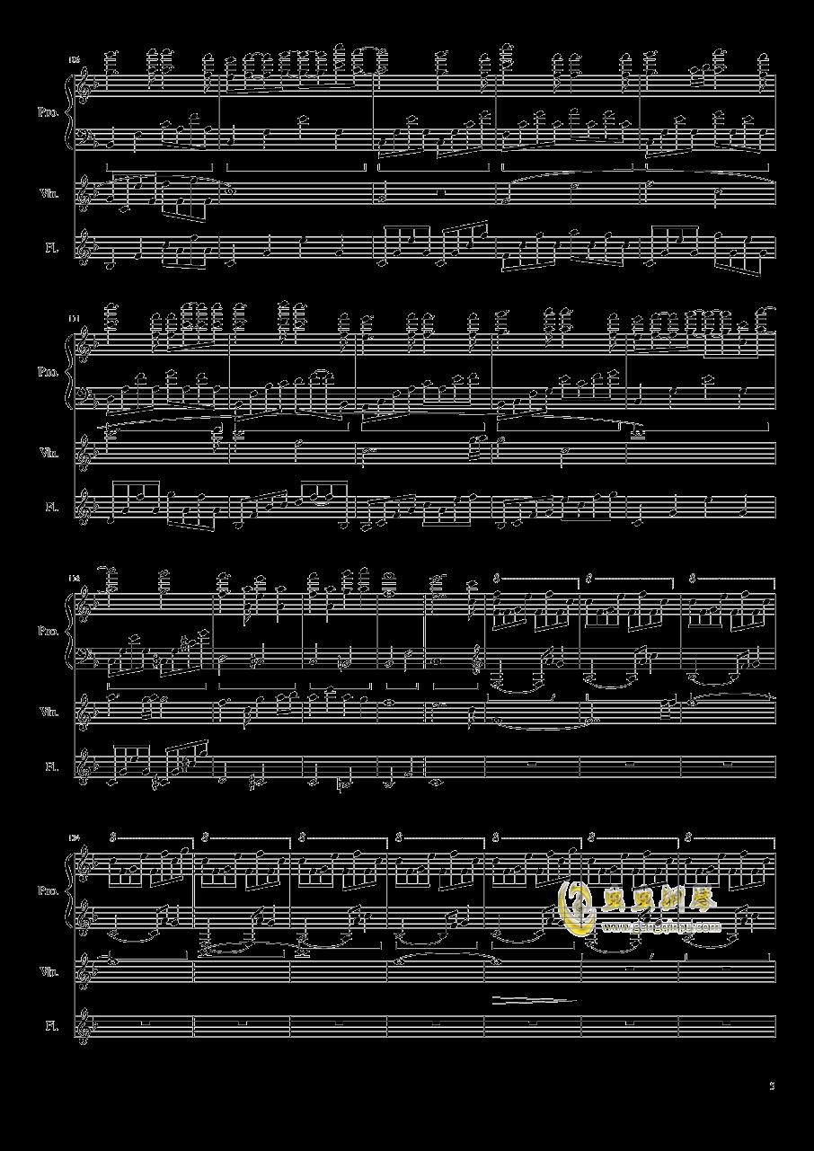 勾小指的�s定钢琴谱 第5页