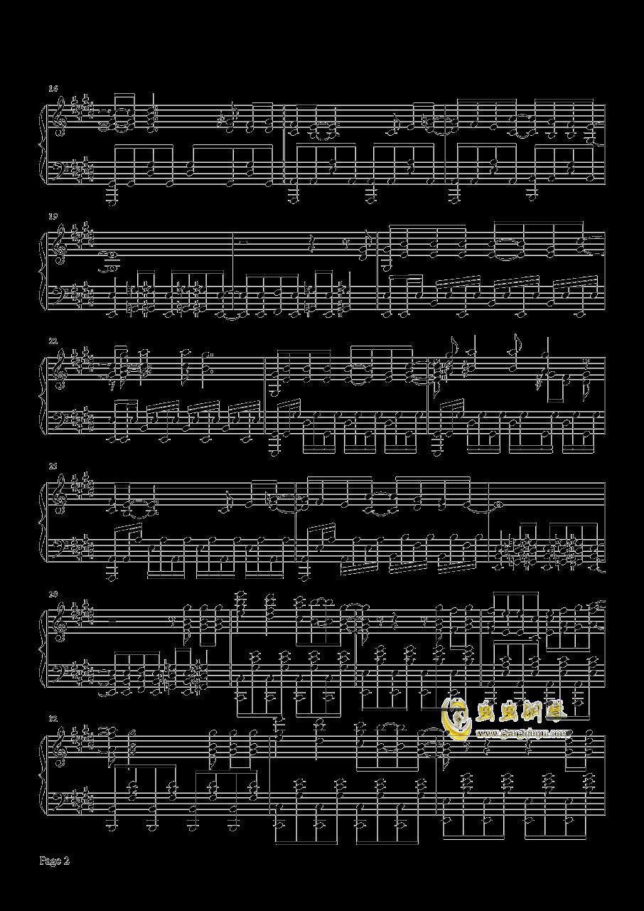 Butter-Fly钢琴谱 第2页