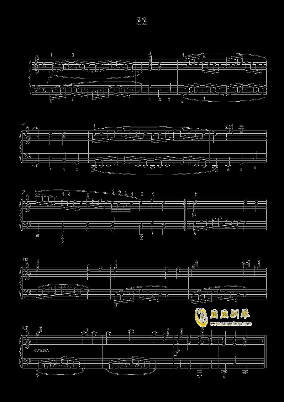 车尔尼-599钢琴谱 第1页