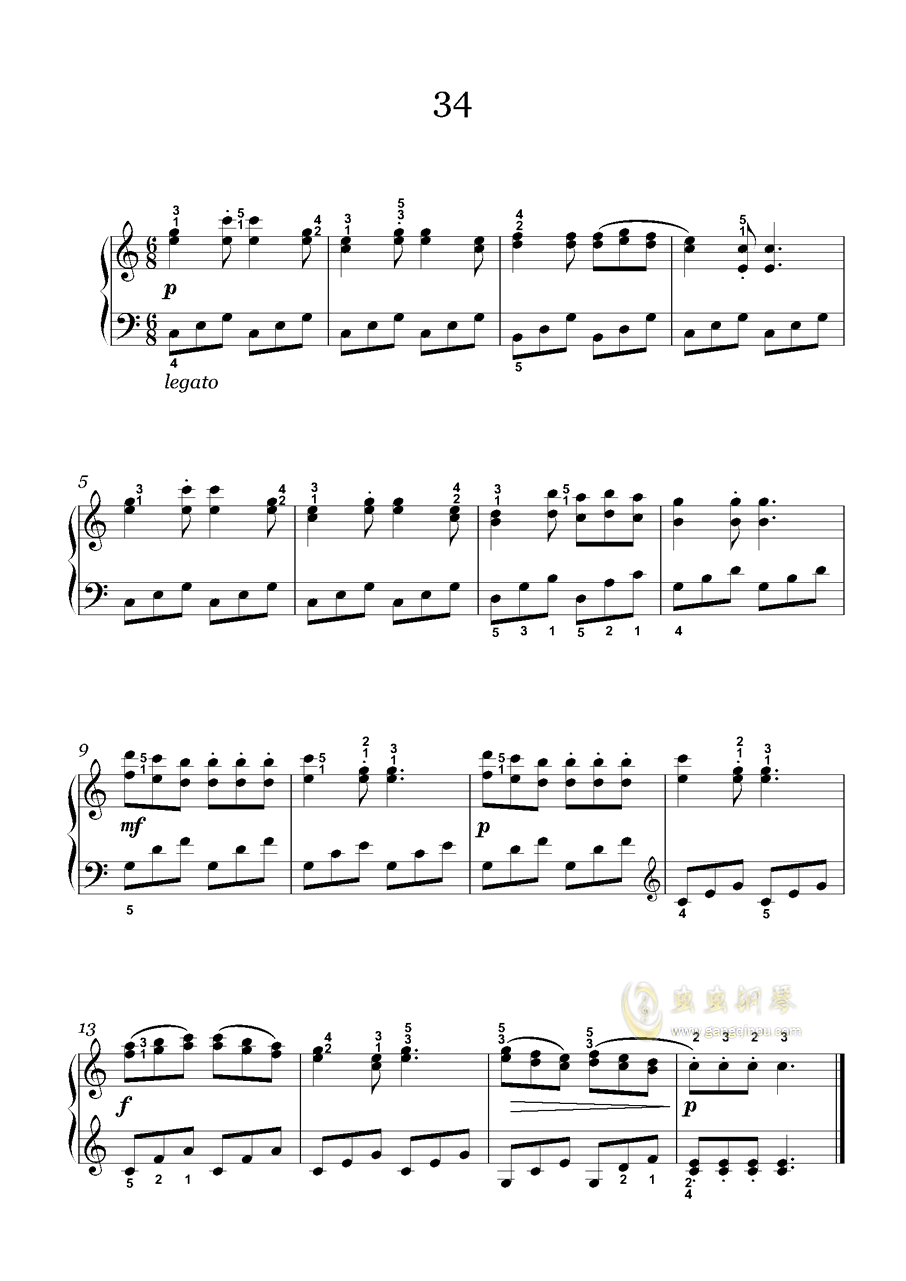 车尔尼-599钢琴谱 第2页