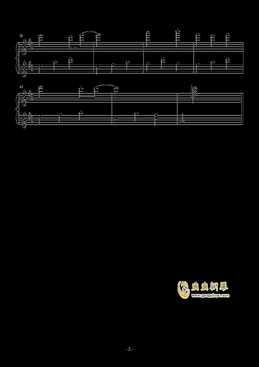 �いが叶う�鏊�钢琴谱 第2页