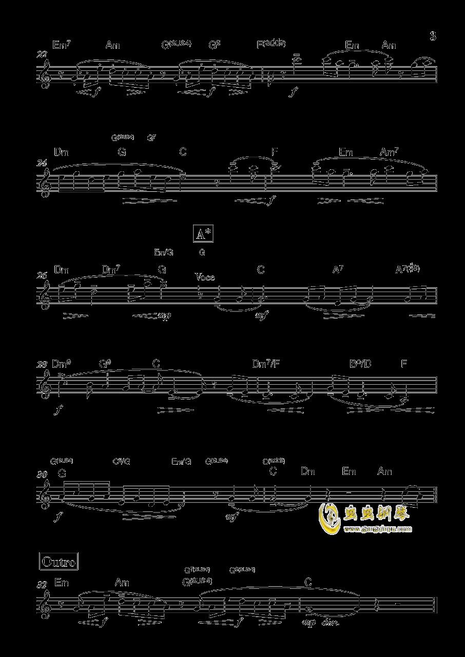 春宵�羧A钢琴谱 第3页