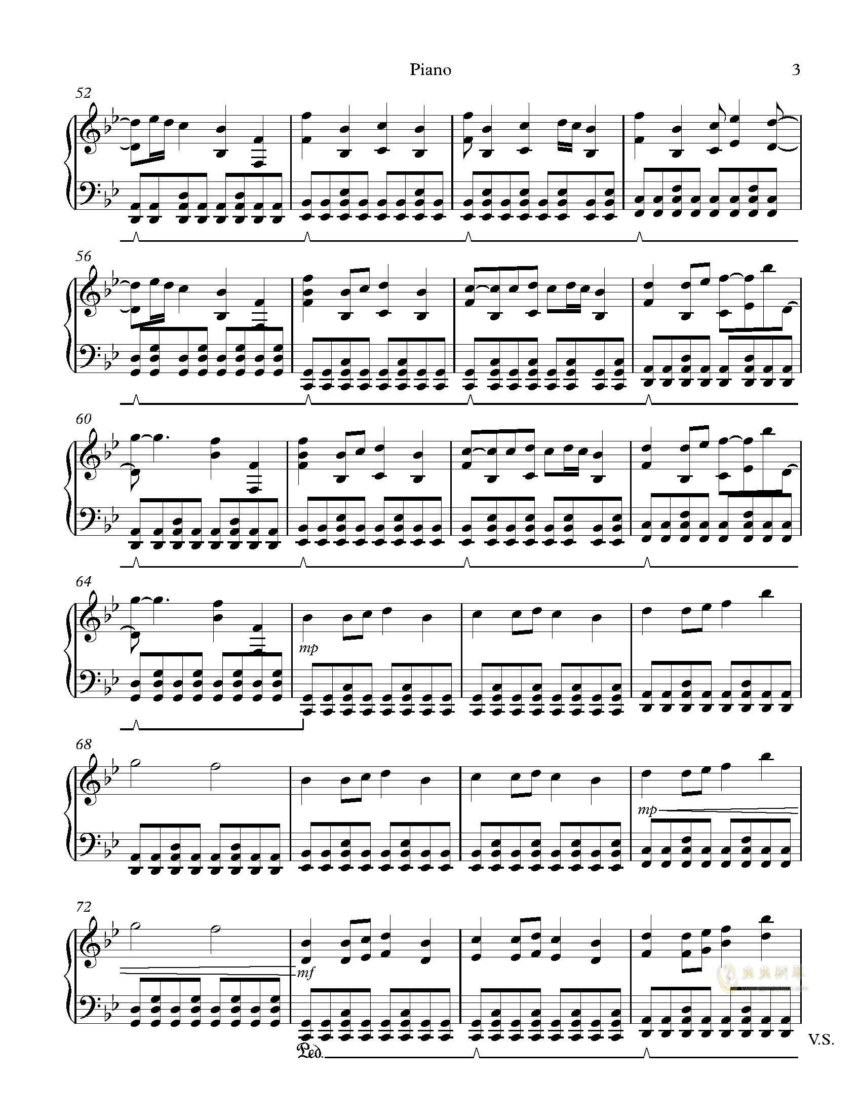 Hopes and Dreams 钢琴谱 第3页