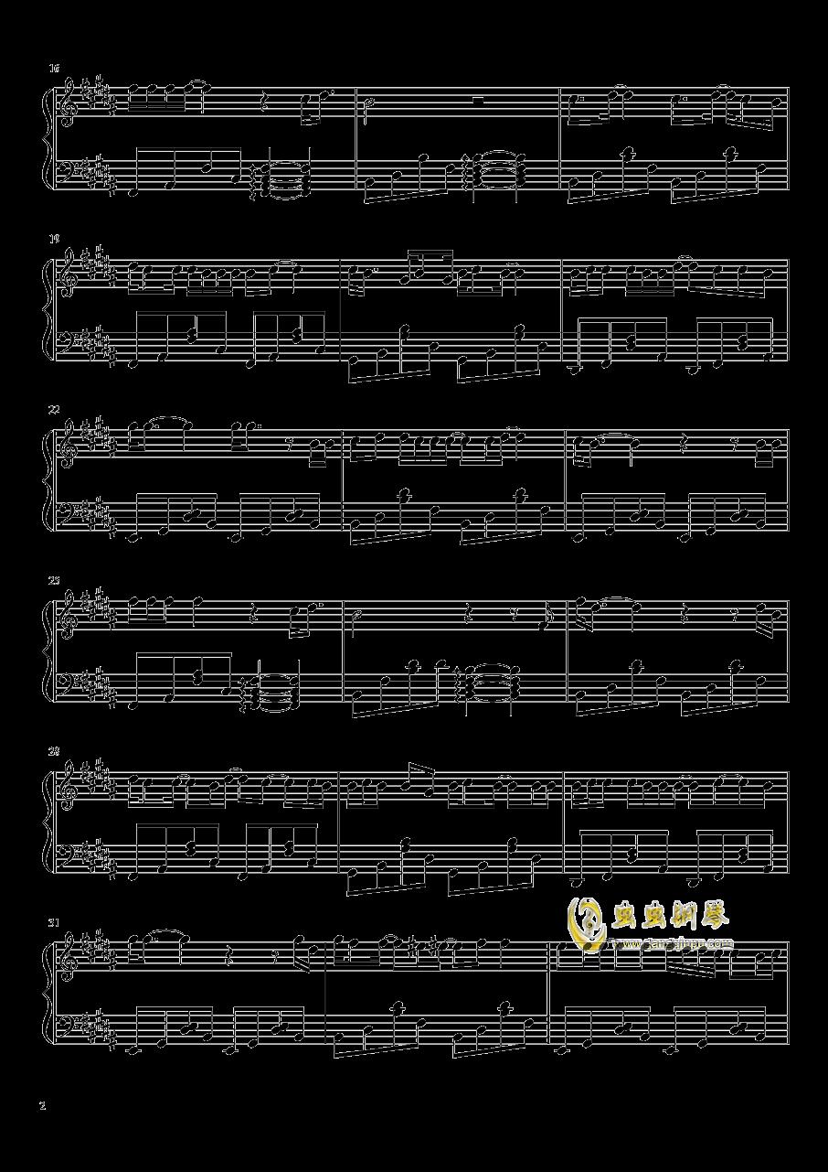 八月十五钢琴谱 第2页