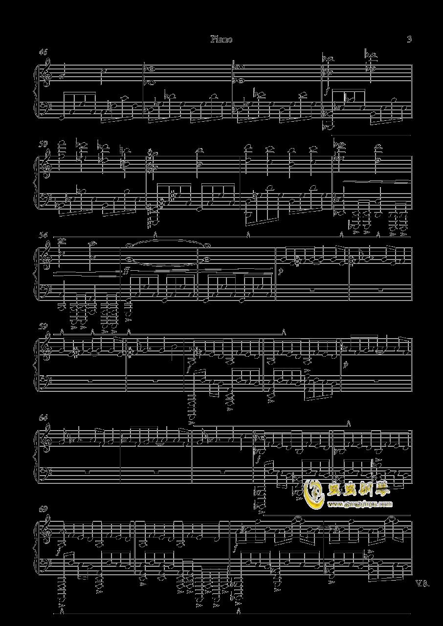 Dark, Darker, Yet Darker钢琴谱 第3页