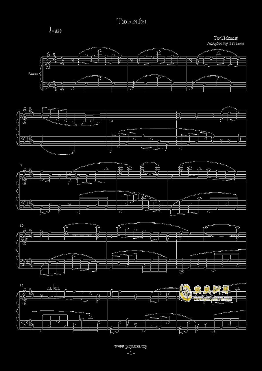 toccata钢琴谱 第1页