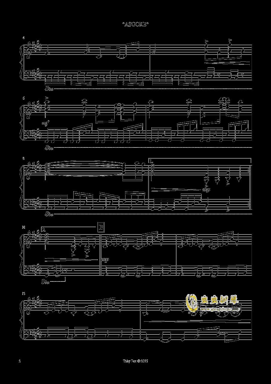 艾斯格尔 钢琴谱 第2页