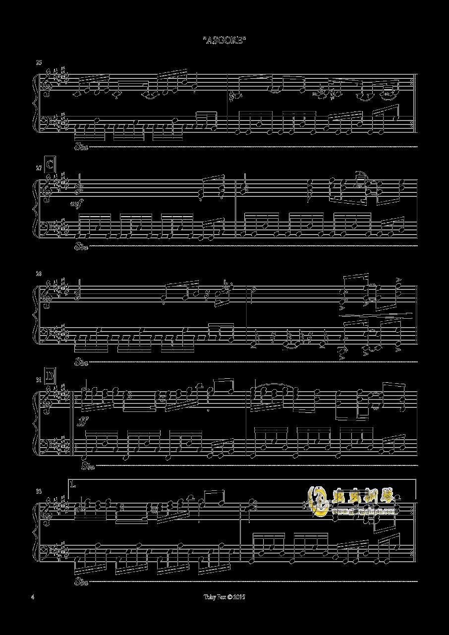 艾斯格尔 钢琴谱 第4页