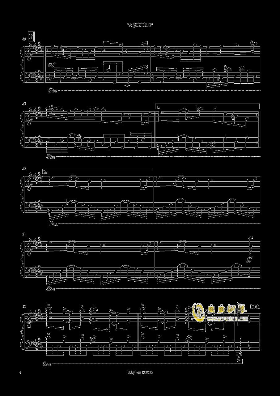 艾斯格尔 钢琴谱 第6页