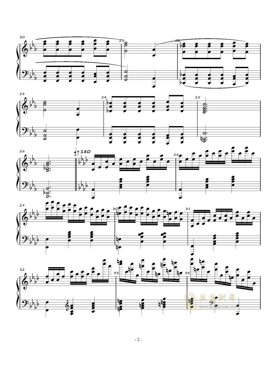 火星的故事Op.3 No.1钢琴谱 第2页