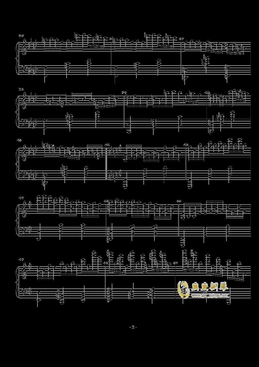 火星的故事Op.3 No.1钢琴谱 第3页