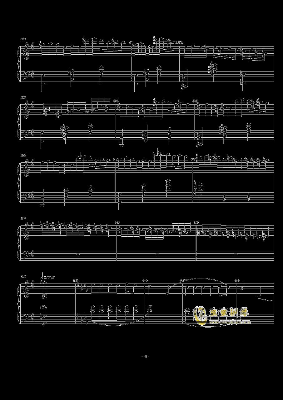 火星的故事Op.3 No.1钢琴谱 第4页