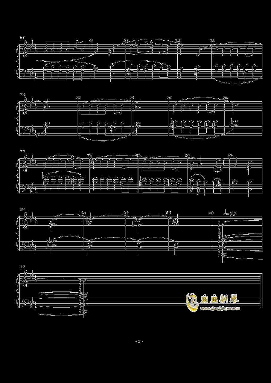 火星的故事Op.3 No.1钢琴谱 第5页