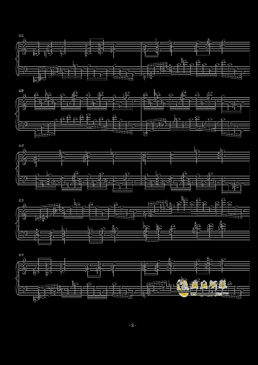 火星练习曲Op.2 No.3钢琴谱 第2页