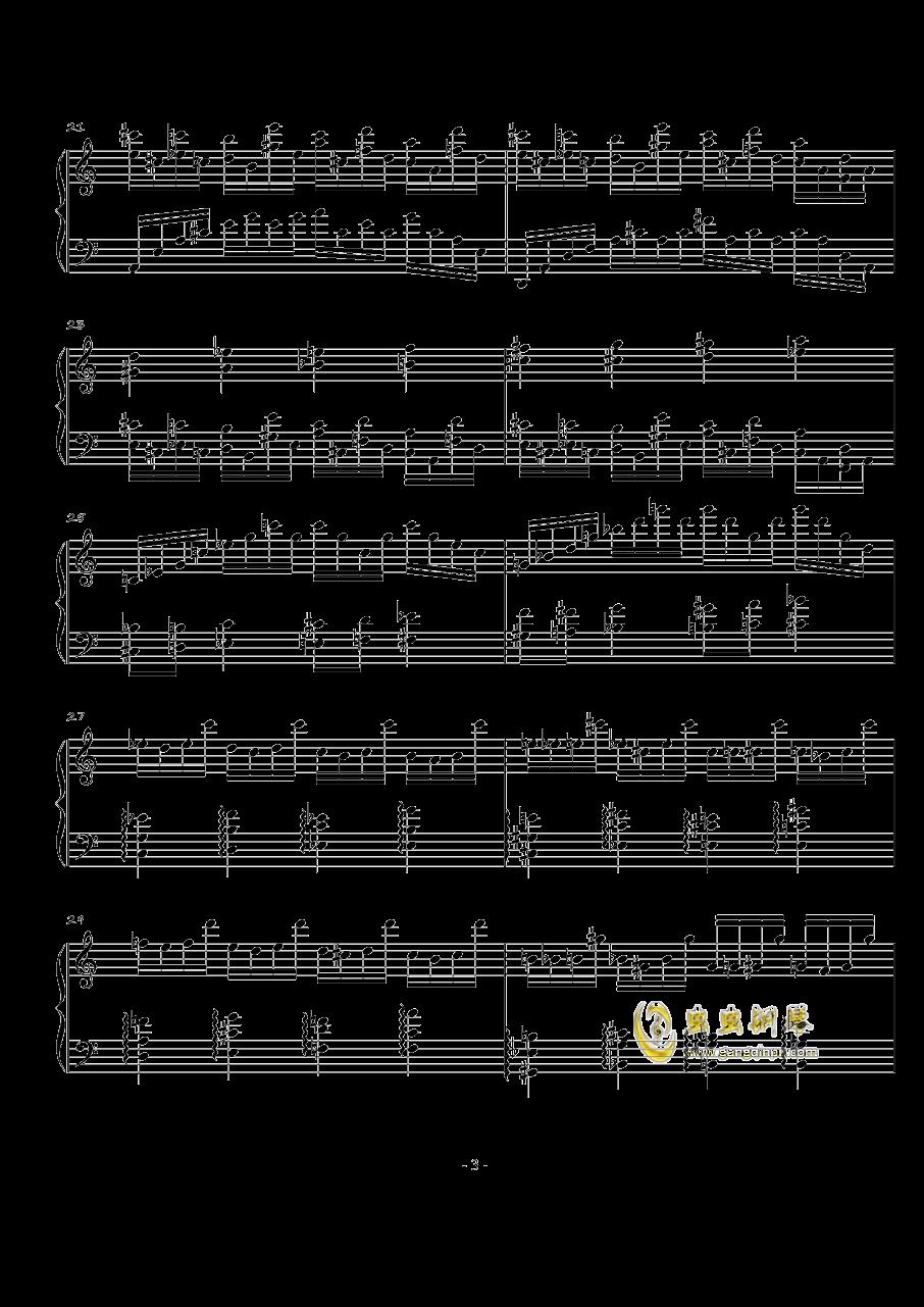 火星练习曲Op.2 No.3钢琴谱 第3页