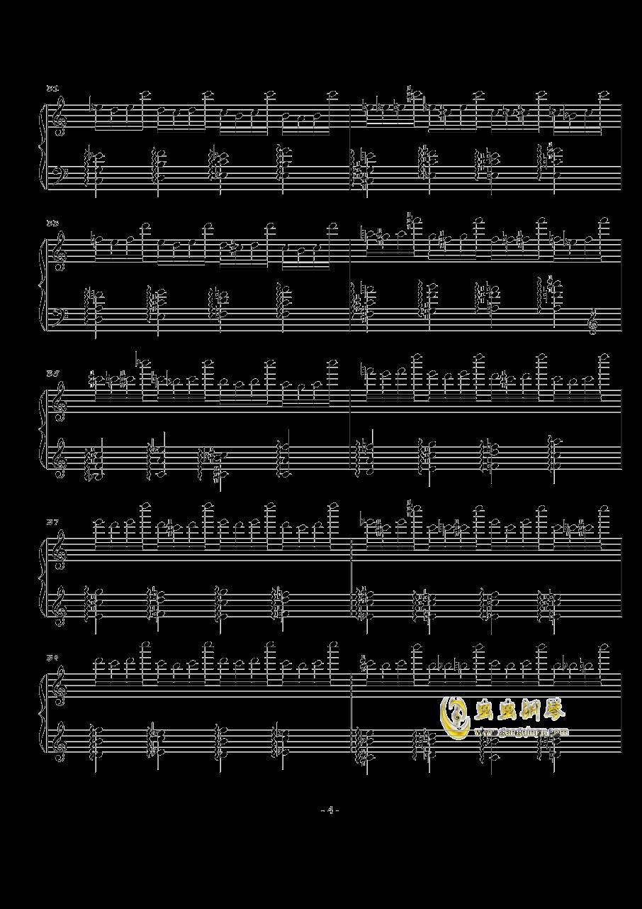 火星练习曲Op.2 No.3钢琴谱 第4页