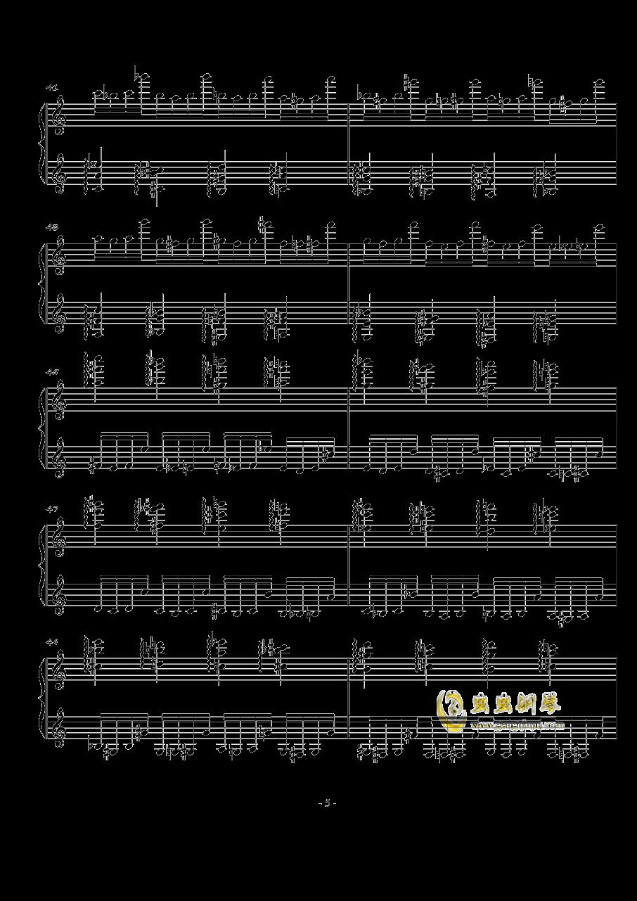 火星练习曲Op.2 No.3钢琴谱 第5页