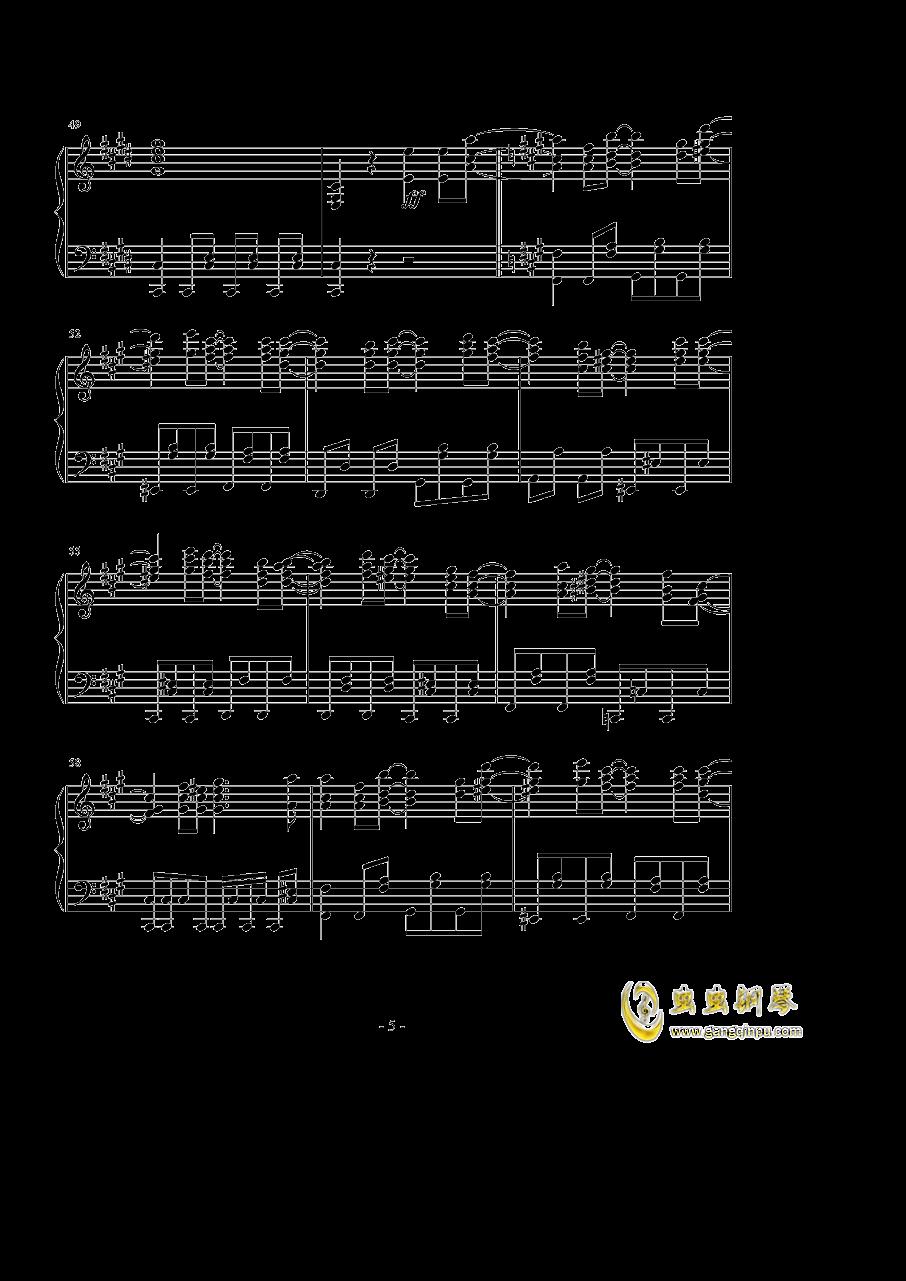 英雄 �\命の诗钢琴谱 第5页