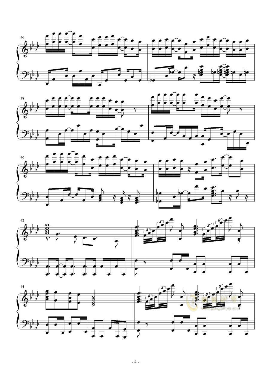 当钢琴谱 第4页