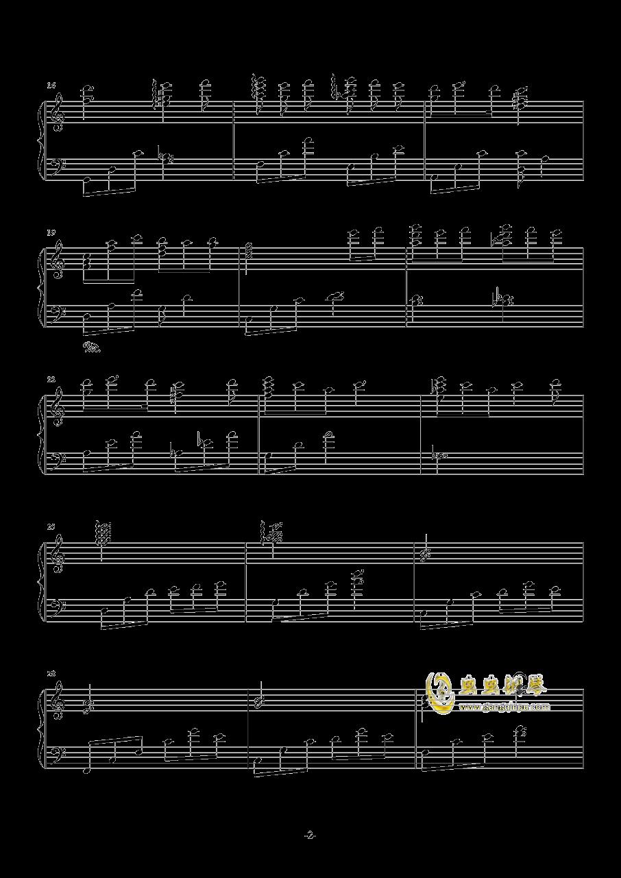 在微风吹过的地方钢琴谱 第2页