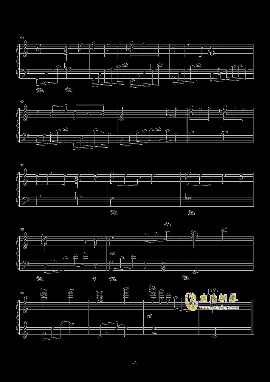 在微风吹过的地方钢琴谱 第4页