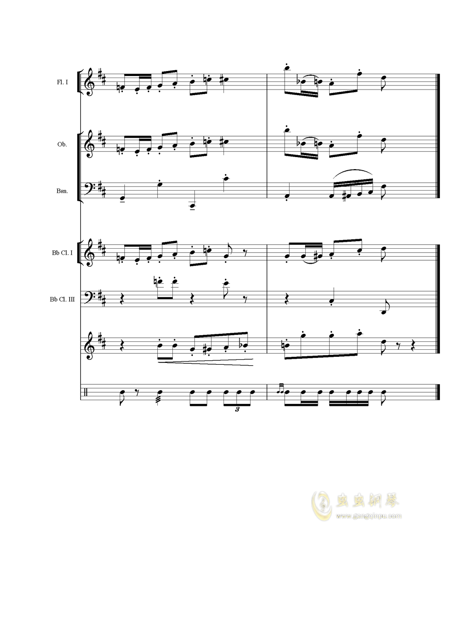 两只鸡的争斗进行曲钢琴谱 第14页