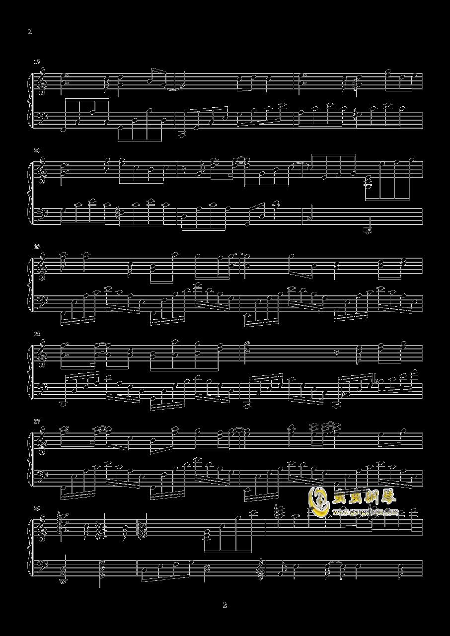 路过我耳朵的忧伤钢琴谱 第2页